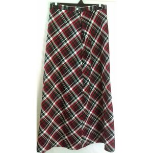 Hannah Andersson women's long plaid skirt size 8